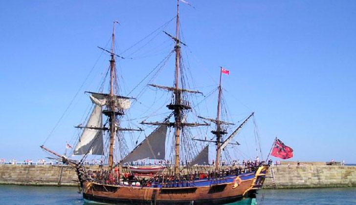 """Aseguran haber localizado el """"Endeavour"""" del capitán James Cook. Foto: Wikimedia"""