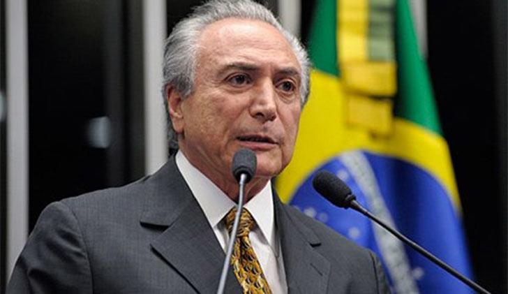 Resultado de imagen para Presidente de Brasil, Michel Temer