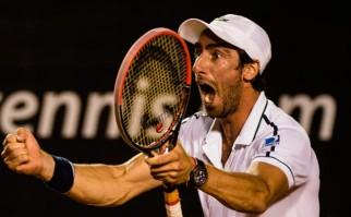 Pablo Cuevas venció a Monfils por el Masters 1000 de Madrid. Foto: AFP