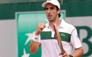Notable triunfo de Cuevas en su debut en el Masters 1000 de Madird. Foto: AFP
