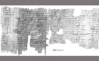 Fotografía de uno de los papiros. the Imaging Papyri Project, University of Oxford & Egypt Exploration Society.