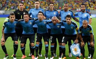 Uruguay se despide de su gente antes de partir a la Copa América Centenario. Foto: AFP