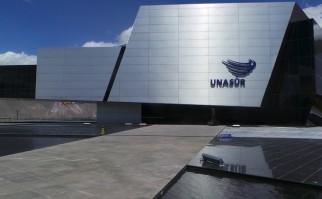 Edificio de la UNASUR, en la Manuel Córdova Galarza, Ecuador. Foto: Wikimedia Commons.