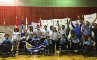 Uruguay campeón de América de fútbol en silla de ruedas en Canadá. Foto: Facebook Fundación Oportunidad