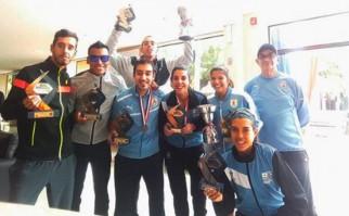 Uruguay vicecampeón femenino y masculino en el Sudamericano de media maratón de Paraguay. Foto: @PrensaCAU