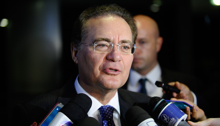 Renan Calheiros, presidente del Senado brasileño. Foto: Wikimedia Commons.