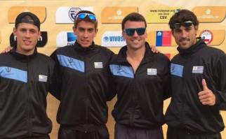 La selección masculina de beach volley clasfició al repechaje para Río 2016. Foto: Facebook Águilas Celestes