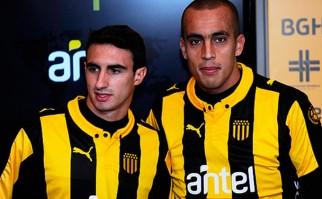 Guzmán Pereira y Juan Martín Boselli se incorporaron a Peñarol en el inicio de la pretemporada. Foto: @OficialCAP