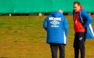 """Lasarte: """"Prefiero tener jugadores de más que de menos, eso es innegable"""". Foto: @Nacional"""