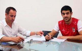 Luis Aguiar retornó al Sporting Braga de Portugal. Foto: scbraga.pt