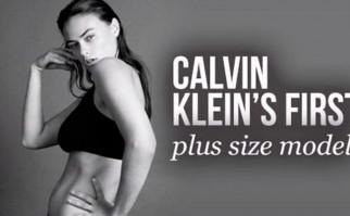 """Polémica por la modelo """"talla grande"""" de Calvin Klein."""