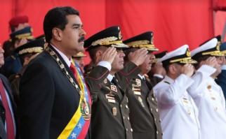 Maduro celebra junto a los altos mandos del ejército venezolano el Día del Ejército Bolivariano. Foto: nicolasmaduro.org.ve.