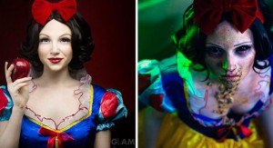 Artista de maquillaje presenta finales infelices para las princesas de Disney