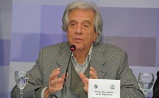 Presidente Tabaré Vázquez, durante una de sus intervenciones durante el Consejo de Ministros en San Gregorio de Polanco. Foto: Presidencia del Uruguay.