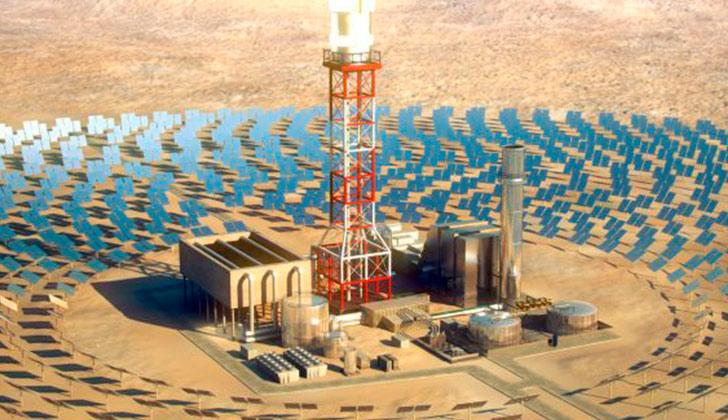 Israel construye la torre solar más grande del mundo. Foto: BrightSource Energy EMAIL FACEBOOK