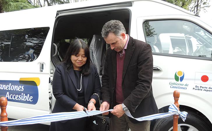 Canelones cuenta con dos unidades de transporte accesibles
