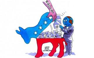 WikiLeaks divulgó mensajes de voz que reafirman el sabotaje del Partido Demócrata a Sanders. Foto: Facebook Wikileaks