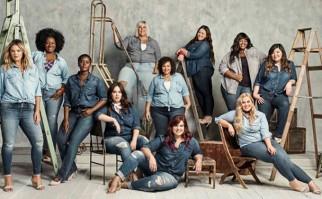Actrices, modelos y clientas protagonizan la campaña de jeans 'para todos los tamaños' de Torrid. Foto: Torrid