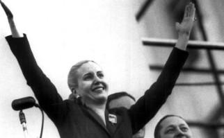 Evita Duarte de Perón. Fotografía de archivo.
