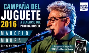 Marcelo Moura líder del grupo argentino Virus participará de la Campaña del Juguete 2016 a beneficio del Hospital Pereira Rossell