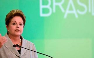 """Dilma Rousseff: """"No tengo la ninguna intención de renunciar. No les daré ese regalo a mis adversarios"""". Foto: AFP"""