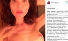 Actriz argentina publicó una emotiva carta para concientizar sobre el cáncer