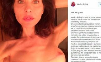 Actriz argentina publicó una emotiva carta para concientizar sobre el cáncer.
