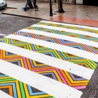 Un artista búlgaro agrega color a los cruce de cebra en Madrid