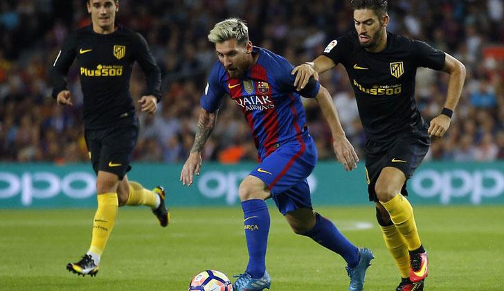 Barcelona y Atlético Madrid, juego áspero en el Camp Nou