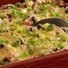 Cacerola vegetariana de quinoa gratinada al horno