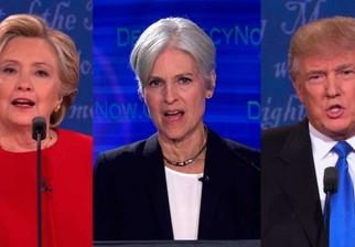 La candidata del Partido Verde, Jill Stein 'se unió' al debate de Clinton y Trump