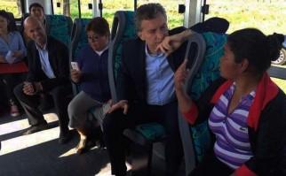 El viaje en ómnibus de Macri que resultó ser ¿una puesta en escena?.