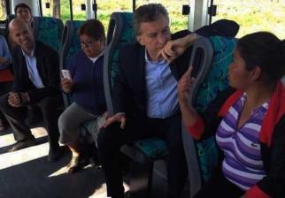 El viaje en ómnibus de Macri que resultó ser ¿una puesta en escena?