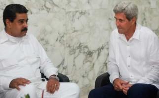 Maduro y Kerry se reunieron en Colombia tras la firma del acuerdo de paz Foto: @VTVcanal8
