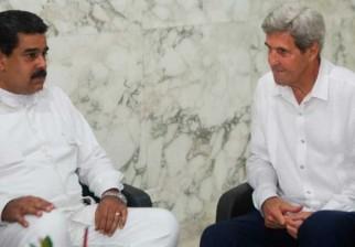 Maduro y Kerry se reunieron en Colombia tras la firma del acuerdo de paz