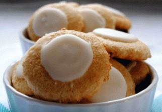 Masitas dulces de limón con glass, libre de gluten y lactosa