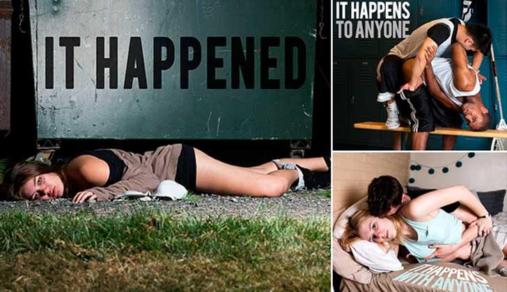 """""""Ocurrió"""", la serie fotográfica contra la liberación de Brock Turner, condenado por agresión sexual."""
