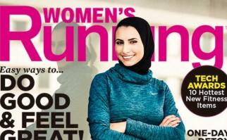 Revista de fitness presenta por primera vez una mujer con hijab en la portada.