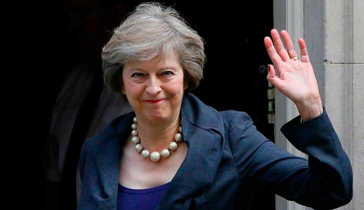 Theresa May, actual Primer Ministra de Reino Unido. Foto: Twitter Theresa May.