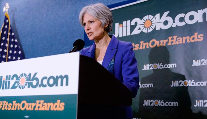 """Jill Stein: """"La mayoría de los votantes fueron motivados por el miedo al otro candidato""""."""