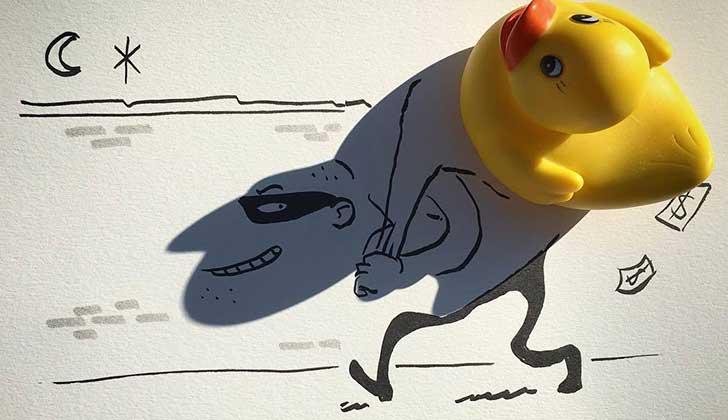 Ilustrador belga usa las sombras para hacer arte.