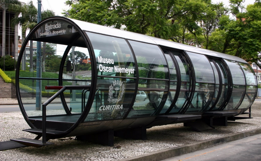 Parada de ómnibuses en Curitiba. Foto: Flickr.com.