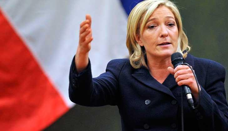Marine Le Pen es presidenta de Agrupación Nacional, un partido francés de la ultra derecha. Foto: Wikimedia Commons