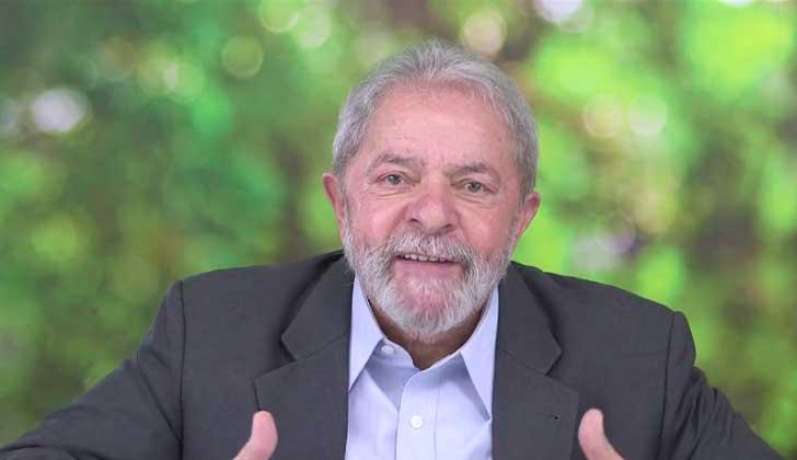 """Lula da Silva: """"Vamos a tener que pensar en un presidente electo por el pueblo, la solución viene con más democracia"""". Foto: Captura de video/ Ricardo stuckert."""