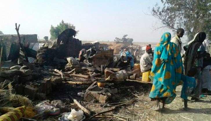 El Ejército de Nigeria bombardea por error un campamento de refugiados . Foto: MSF