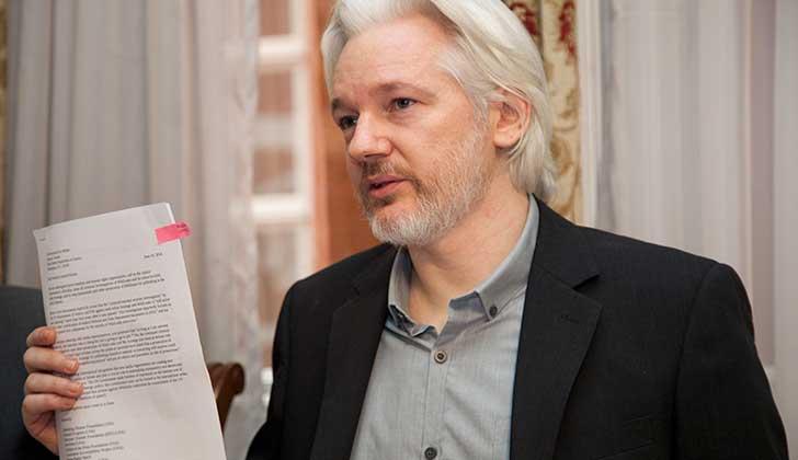 """Assange: """"Obama era un lobo con piel de oveja. Trump es un lobo con piel de lobo"""". Foto: WikiCommons"""