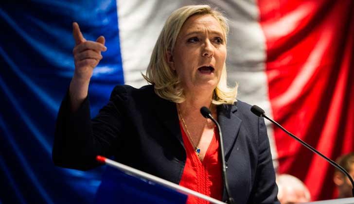 Marine Le Pen, líder del Frente Nacional. Foto de archivo