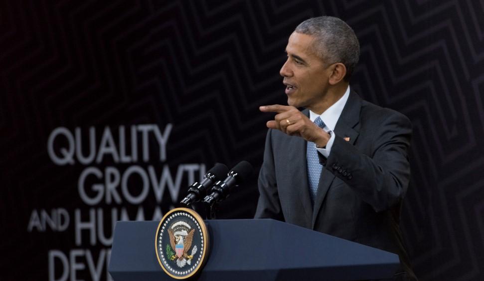Barack Obama, durante un discurso en la Cumbre de Líderes del Foro de Cooperación Económica Asia-Pacífico (APEC 2016). Foto: Jose Orihuela - APEC 2016.