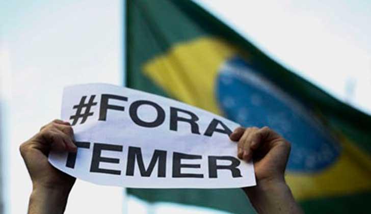 Miles protestan en Brasil y Temer cambia a Ministro