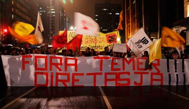 Brasil no se calla: el Fora Temer y la exigencia de elecciones directas se siente en todo el país.